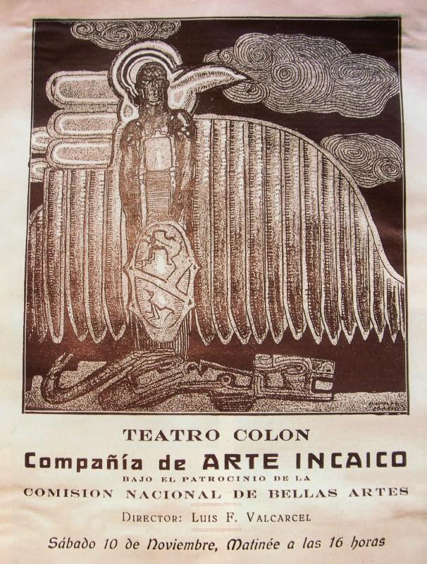 Teatro Colón, Compañía de arte incaico. Photo: Rodolfo Franco, 1923. Courtesy of CEDODAL, Buenos Aires.